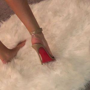 Christian Louboutin Tan Strappy Heels Size 39.5